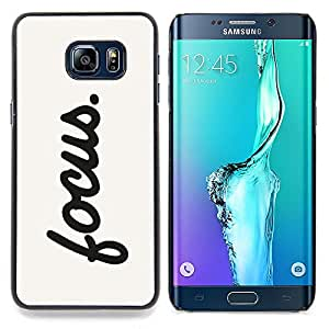 /Skull Market/ - Focus Motivational Sign Quote Inspiration For Samsung Galaxy S6 Edge Plus - Mano cubierta de la caja pintada de encargo de lujo -