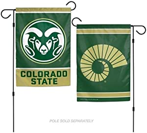 WinCraft NCAA Colorado State Rams 12x18 Garden Style 2 Sided Flag, One Size, Team Color