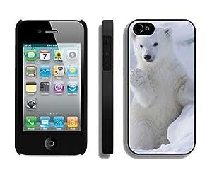For Apple Iphone 4/4S Case Cover Cute Polar Bear Designer Black Phone Back Cover for Apple For Apple Iphone 4/4S Case Cover