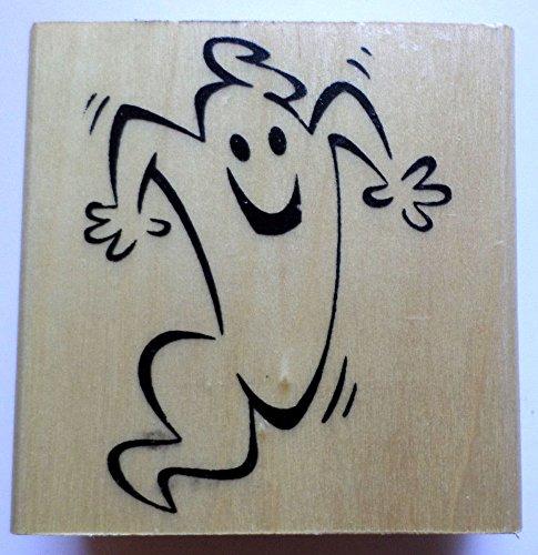 Anita's Halloween Spooky Ghost Wooden Rubber -