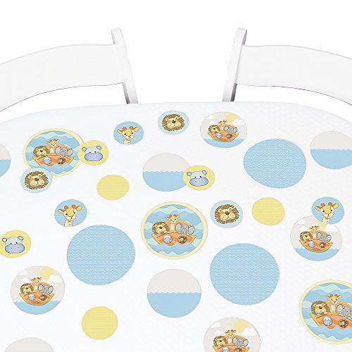 Big Dot of Happiness Noah's Ark - Baby Shower or Birthday Party Giant Circle Confetti - Party Decorations - Large Confetti 27 Count]()