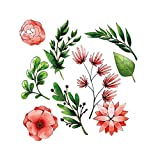 Baulody Flower Kids Wall Stickers Wall Decals Peel and Stick Removable Wall Stickers for Kids Nursery Bedroom Living Room (Multicolor)