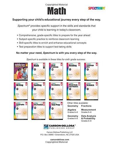 Spectrum Math Workbook, Grade 6: Spectrum: 9781483808741: Amazon ...