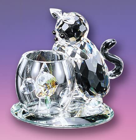 Crystal World Curious Cat