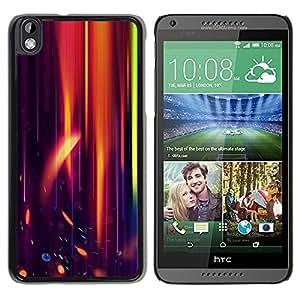 Be Good Phone Accessory // Dura Cáscara cubierta Protectora Caso Carcasa Funda de Protección para HTC DESIRE 816 // Orange Purple Light Black Flame Speed
