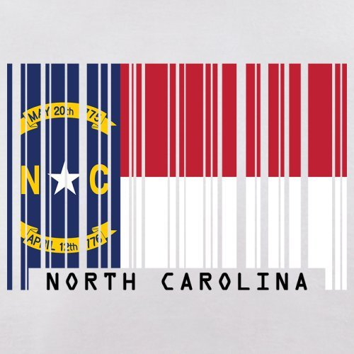 North Carolina / Nord-Carolina Barcode Flagge - Herren T-Shirt - Weiß - M