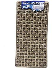 سجادة حمام من بلاستيك البولي فينيل كلوريد  لتفادي الانزلاق - 60 × 40 سم ، 6050101، اسود