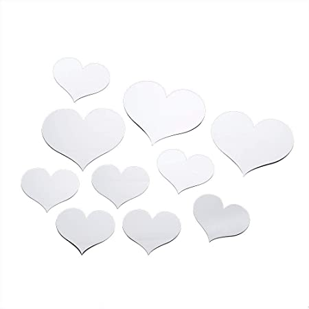 YWLINK 10pcs Love Heart Acrylic 3D Mirror Etiqueta De La Pared ...