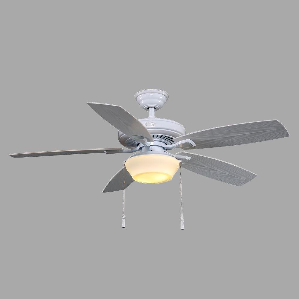 Hampton Bay Gazebo Ii 52 In. Indoor outdoor White Ceiling Fan