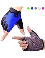 Molee Fahrradhandschuhe Fitness Handschuhe Halbfinger Radsporthandschuhe Trainingshandschuhe für Radsport MTB,Fitness