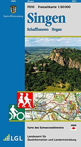 Singen: Schaffhausen Hegau (Freizeitkarten 1:50000)