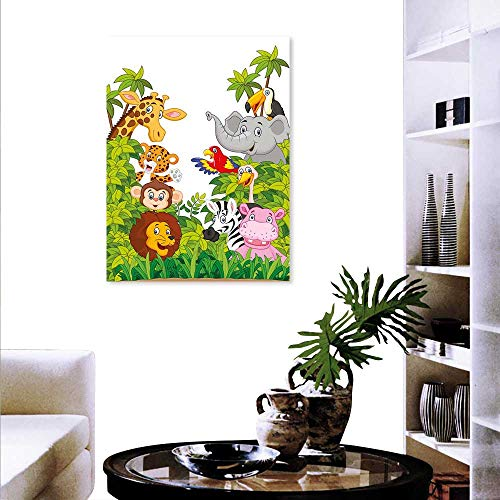 - Anyangeight Nursery The Picture Home Decoration Cartoon Style Zoo Animals Safari Jungle Mascots Collection Tropical Forest Wildlife Wall Stickers 24