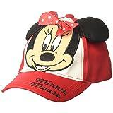 Disney Toddler Girls' Minnie Mouse Baseball Cap, Red/Black/White, Age 2-4