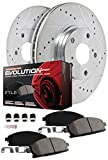 Power Stop K6790 Front and Rear Z23 Evolution Brake Kit with Drilled/Slotted Rotors and Ceramic Brake Pad, 1 Pack
