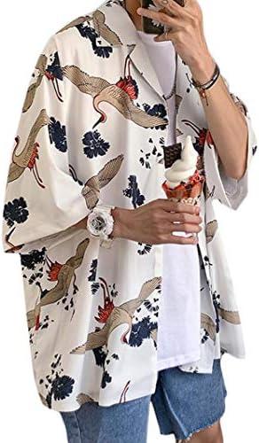 [BSCOOL]アロハシャツ メンズ 半袖 ゆったり シャツ プリント 鶴柄 おしゃれ カジュアルシャツ 通気性 トップス 夏 大きいサイズ