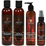 As I Am Naturally 4pcs BIG Combo Deal (Curl Shampoo, Leave-In Conditioner, So Much Moisture, and Cocoshea spray Moisturizer) Plus 1 free pencil