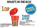 SwiftBrew 24k Gold Reusable K-Carafe Filter- K-Cup Reusable 4-5 Cup Coffee Filter Compatible With Keurig Brewers 2.0 - For K200, K300, K400, K500 With Bonus Keurig Water Filter