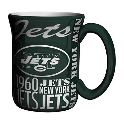 - NFL New York Jets Sculpted Spirit Mug, 17-ounce