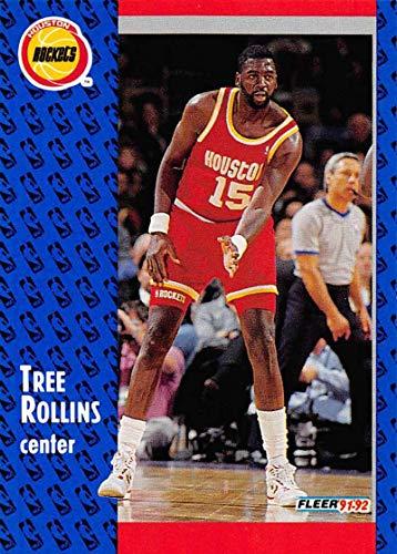1991-92 Fleer Basketball #291 Tree Rollins Houston Rockets Official NBA Trading Card From Fleer/Skybox