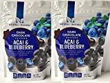 Chocolate Covered Blueberries and Acai Berries (2 Packs) - Two 7 oz Packages of Delicious Dark Chocolate Covered Blueberry and Acai Berries - GREAT VALUE!