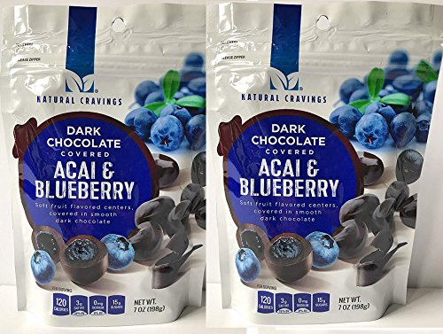 Chocolate Covered Blueberries and Acai Berries (2 Packs) - Two 7 oz Packages of Delicious Dark Chocolate Covered Blueberry and Acai Berries - GREAT VALUE! by Natural Cravings (Image #6)