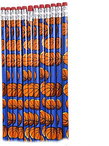 7.5'' Basketball Pencils (2880 Pieces) - 7.5'' Basketball Pencils. These Pencils Feature A Colorful Basketball Design With #2 Lead And Real Rubber Erasers. Packed 12 Pieces Per Poly Bag And 2880 Pieces by WASX