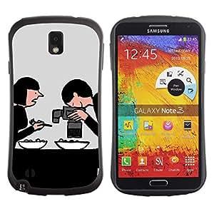 "Hypernova Slim Fit Dual Barniz Protector Caso Case Funda Para Samsung Note 3 [Dibujo Internet Foodie Alimentos""]"