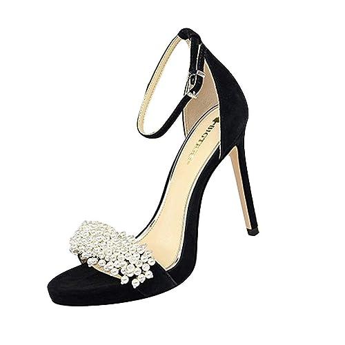 bas prix 05947 62bf5 LMRYJQ Chaussures Talon Haut Femme Dames De La Mode Fines à ...