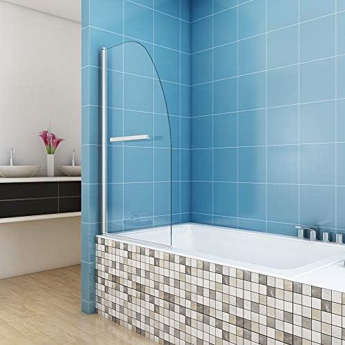 Ducha Bañera para pared plegable pared 80 x 140 cm cristal auténtico de 6 mm Mampara para ducha pared transparente cristal jdong: Amazon.es: Bricolaje y herramientas