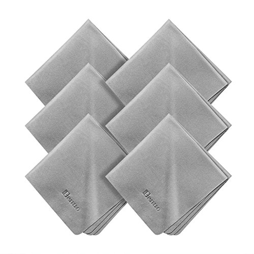 Microfiber Cleaning Cloths, Benuo Soft Compact Microfiber Towel for iPhone 7, Apple Watch Series 2, Tablets, Eyeglass, Glass, Lens, TV, Laptop Screen, Silverware & Other Delicate Surfaces (6 PACK) (Glass Plus Cleaner compare prices)