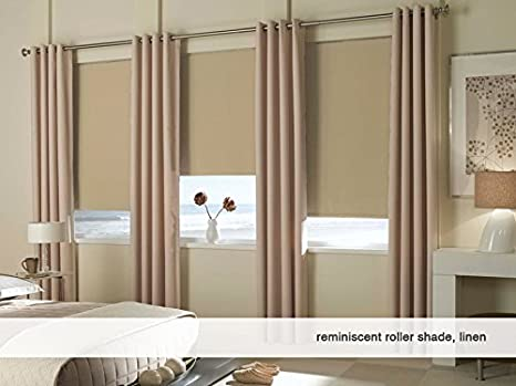 52W x 36H Cordless Roller Shades Any Size 19-96 Wide Reminiscent Blackout Black