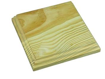 9d570cf8442 excellent peanas madera cuadradas en madera de pino macizo en crudo se  pueden pintar y decoracin cms amazones hogar with como pintar en madera
