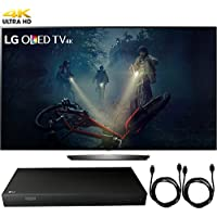 LG OLED65B7A B7A Series 65 OLED 4K HDR Smart TV (2017 Model) + 4K Ultra-HD Blu-Ray Player w/ 3D Capability + 2x 6ft High Speed HDMI Cable