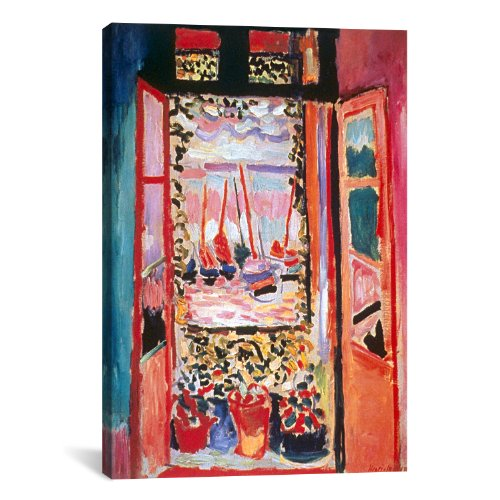 Henri Matisse Art Canvas - iCanvasART Open Window at Collioure Canvas Art Print by Henri Matisse, 18 by 12-Inch