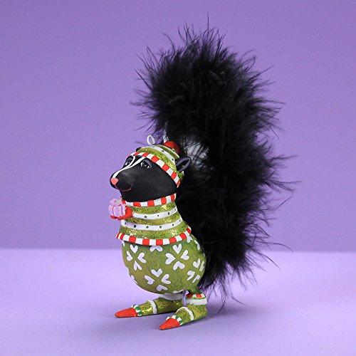 - Patience Brewster Mini Sniffy Skunk Figural Ornament # 31213