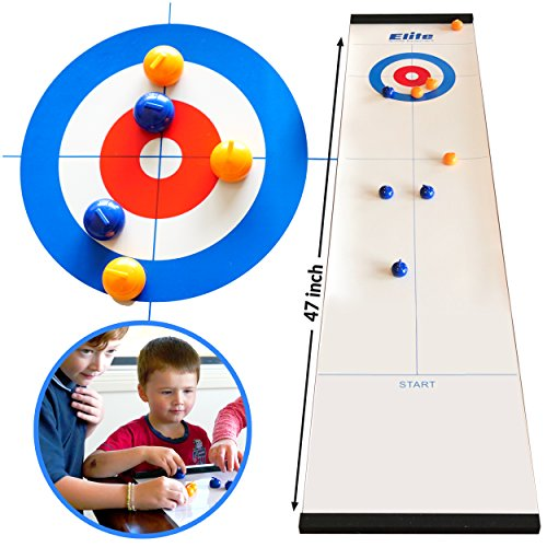 Elite Sportz Curling - Tabletop Games with Family - Fun Games for Kids and Adults