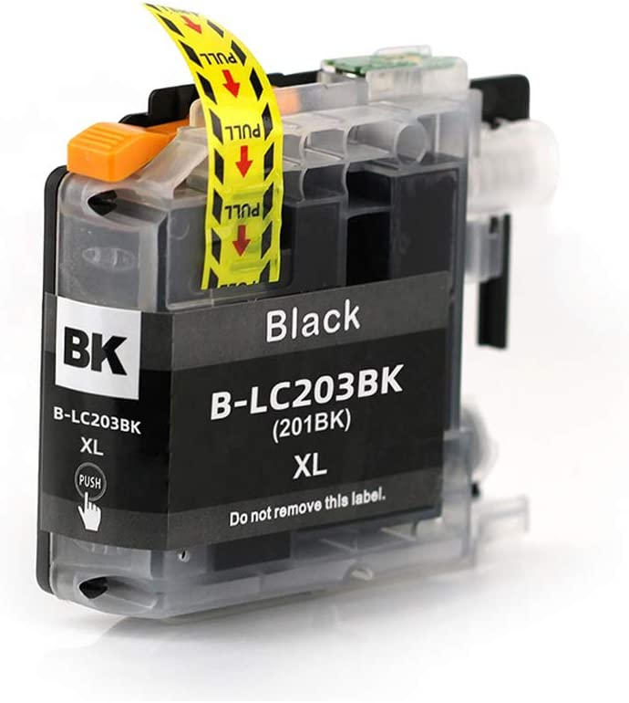 Ninjatoner Re-Manufactured Ink Cartridge Replacement for Brother LC203XL LC203 XL LC203BK MFC-J480DW J485DW J5520DW J5620DW J5720DW J460DW J880DW J885DW Black, 4 Pack