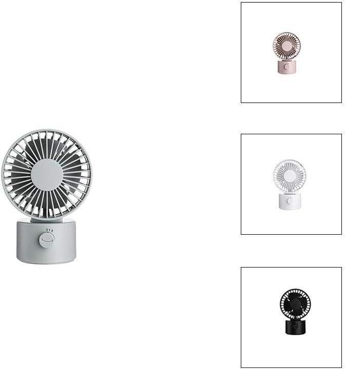TJMWL Ventilatore Macaron Ricaricabile Ventola di Raffreddamento Portatile Desktop Silenzioso Ventilatore Home Office, Esterno,Green Green