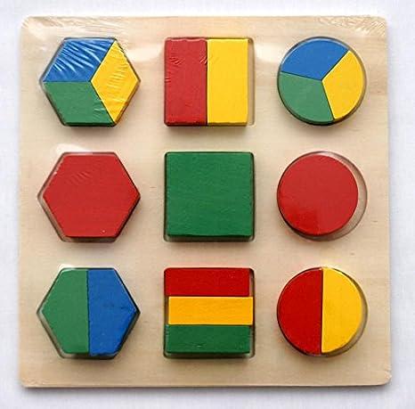aembe Juego de Amazon – Figuras Geométricas – magnéticas para el Aprendizaje/madera juguete/Juego De Memoria Para Niños – Juego de mesa. anlegen – motoric Ejercicios: Amazon.es: Bebé