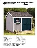 8' x 10'Gable Storage Shed Project Plans -Design #10810