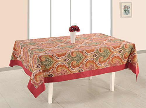 Amazoncom Shalinindia Banquet Tablecloth 56 X 116 Inches For 6 8