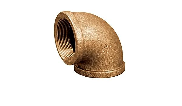 Lead Free Jones Stephens Corp 1 X 3//4 Bronze Red Elbow