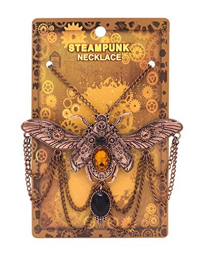 Zealmer Shoopic Steapunk Gear Scarab Beetle Dragonfly Pendant Cog Necklace