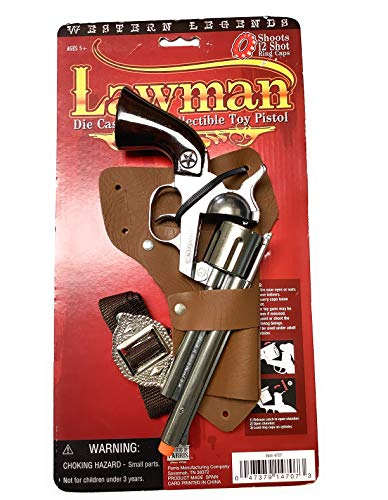 Western Legends Lawman Die Cast Metal Cap Pistol