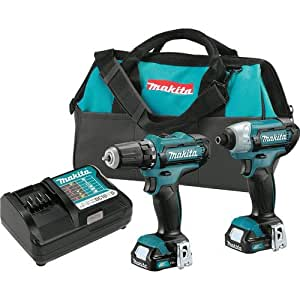 Makita CT226RR CXT 12V Max Cordless Lithium-Ion 1/4 in. Impact Driver and 3/8 in. Drill Driver Combo Kit (Certified Refurbished)