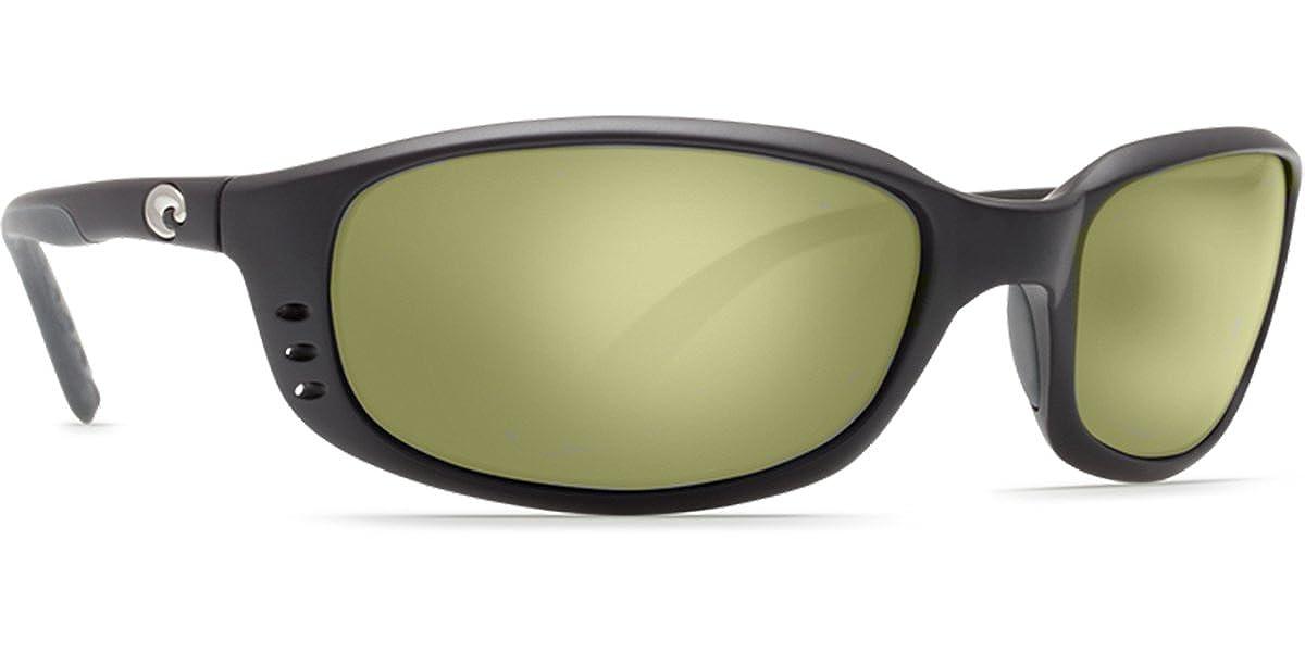 aece72b46 Costa Del Mar Brine Sunglasses Matte Black/Sunrise Silver Mirror 580Glass  at Amazon Men's Clothing store: