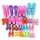 Lote de 20 Pares de Zapatos Atractivos Barbies Muñecas Alto Tacón Varios Estilos