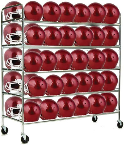 Champion Sports Football Helmet Cart (Chrome)