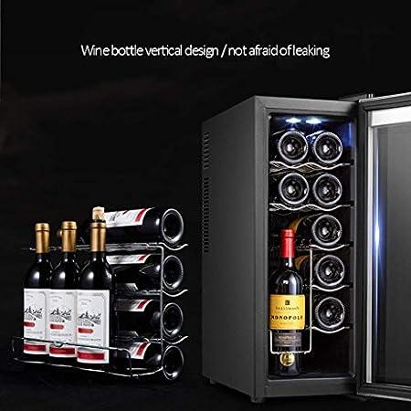 YFGQBCP Refrigerador de vino electrónico de la temperatura constante del enfriador del vino del hogar de la barra de hielo pequeño del hogar, el panel táctil inteligente tranquilo y el enfriamiento rá