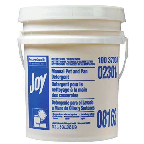 Procter & Gamble 608-02301 Joy Dishwashing Liquid, Lemon Scent, 5 gal Pail